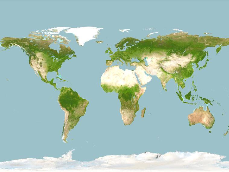 Карта на земята